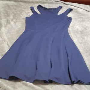 Texture navy blue dress